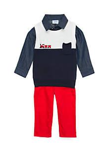 Infant Boys Sweater Vest Set