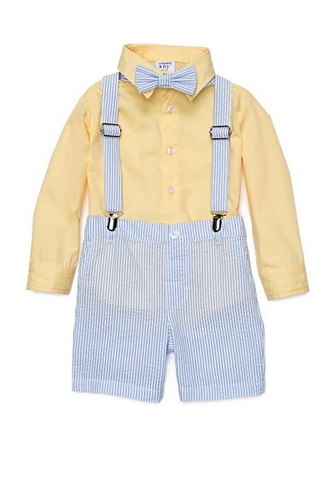 Baby Boys 4-Piece Suspender Set