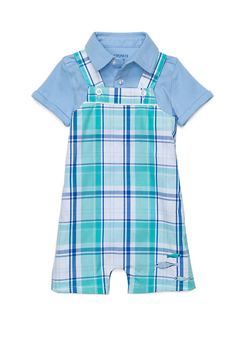 Crown & Ivy™ Baby Boys Button Front Bodysuit