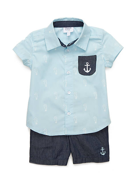 Baby Boys Button Front Set