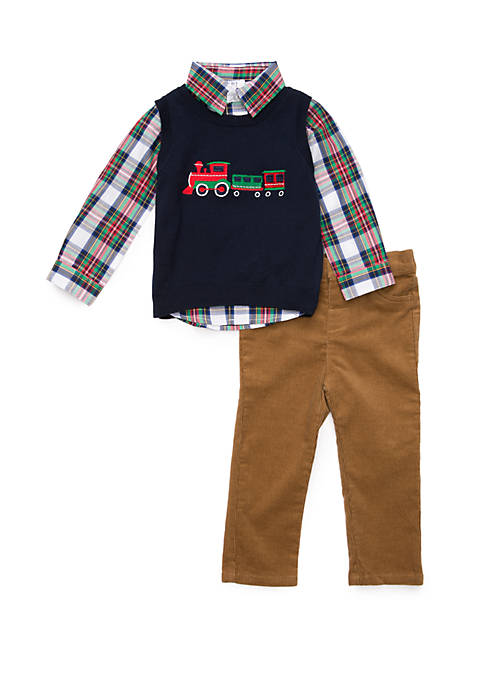 Crown & Ivy™ Baby Boys Sweater Vest Set