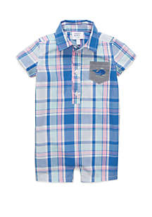 Crown & Ivy™ Baby Boys Button Front Romper