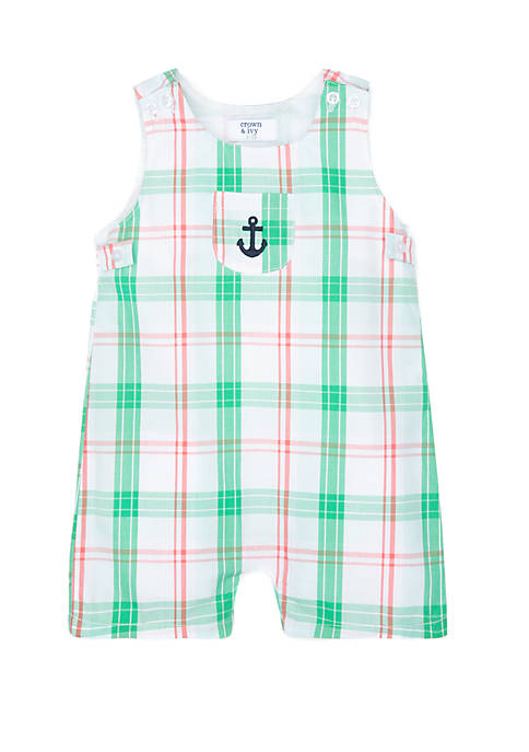 Crown & Ivy™ Baby Boys Front Pocket Shortall