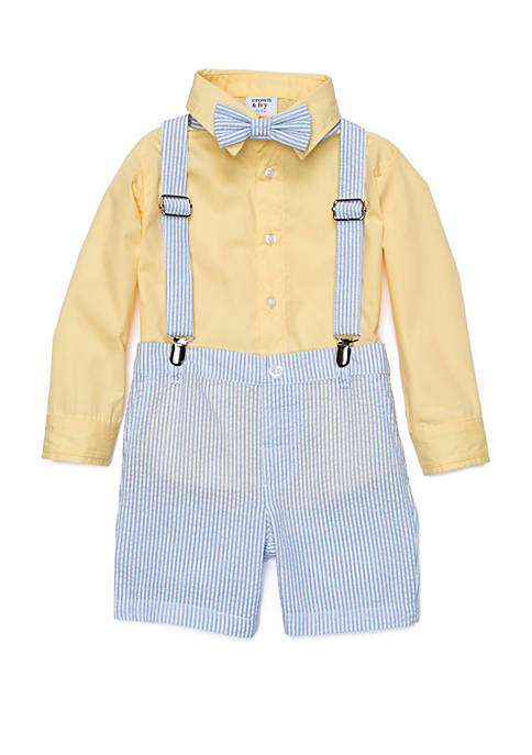 Crown & Ivy™ Toddler Boys 4-Piece Suspender Set