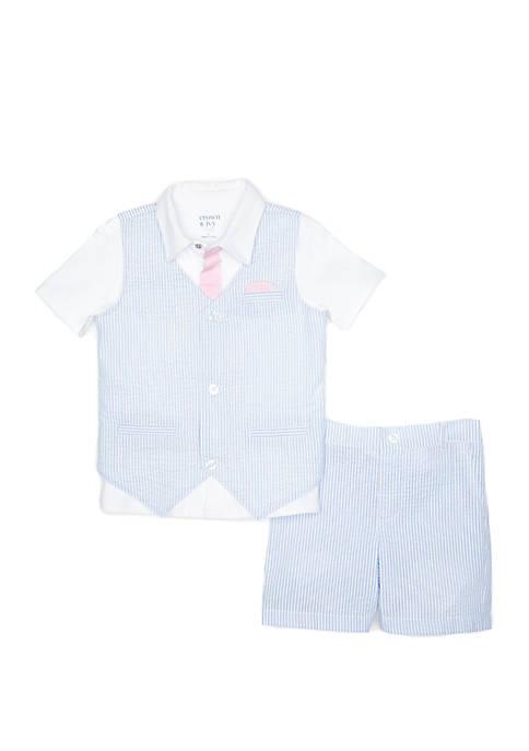 Crown & Ivy™ Toddler Boys 2-Piece Vest Set
