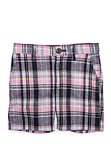 Crown & Ivy™ Toddler Boys Plaid Flat Front Shorts