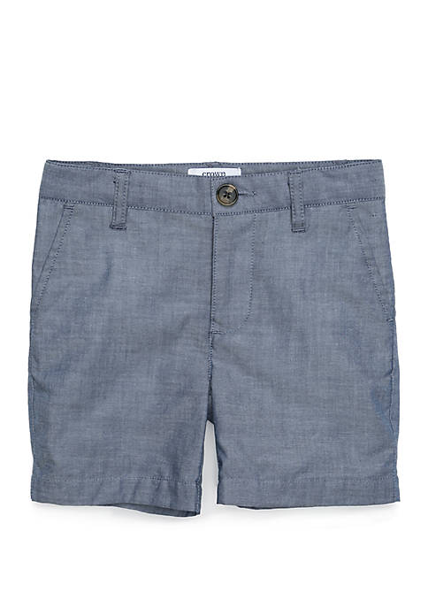 Crown & Ivy™ Toddler Boys Chambray Flat Front