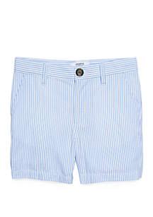 Crown & Ivy™ Toddler Boys Seersucker Flat Front Shorts