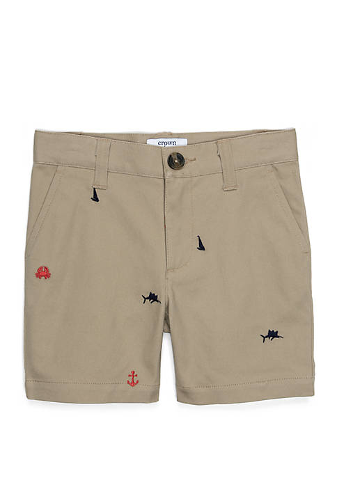 Crown & Ivy™ Toddler Boys Shifley Flat Front