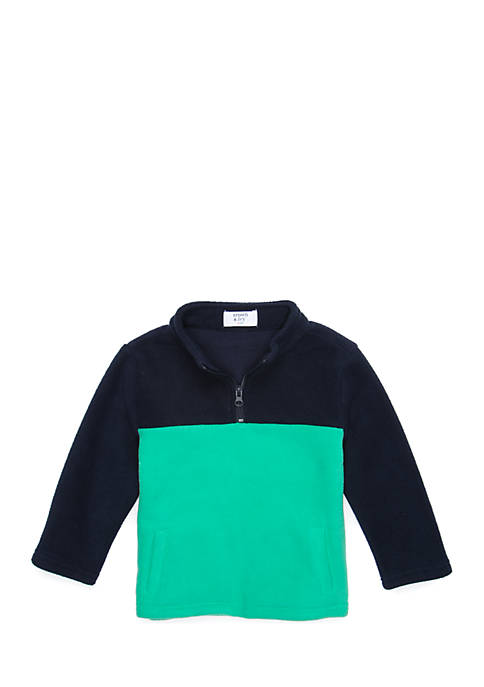 Crown & Ivy™ Toddler Boys Colorblock Quarter Zip