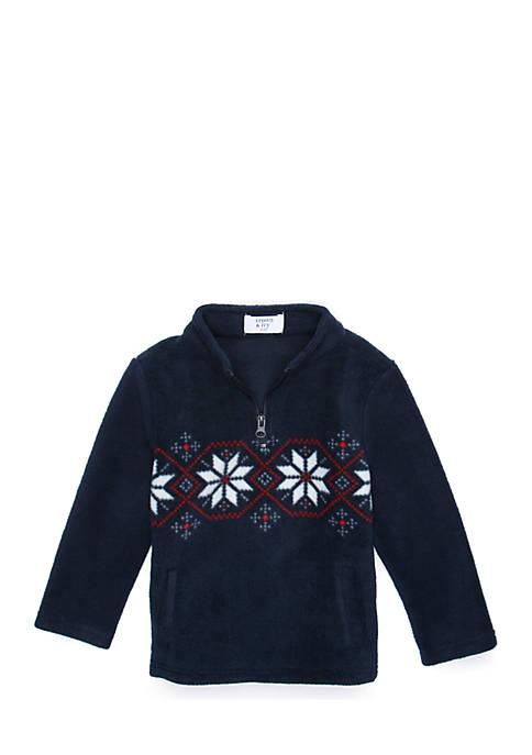 Crown & Ivy™ Toddler Boys 1/4 Zip Microfleece