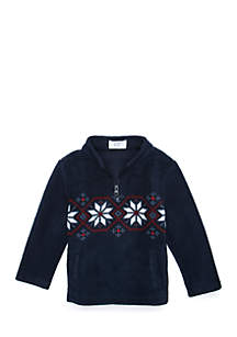 Crown & Ivy™ Toddler Boys 1/4 Zip Microfleece jacket