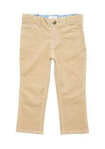 Toddler Boys Straight Leg 5-Pocket Corduroy Pants