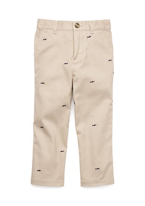 Toddler Boys Flat Front Pants