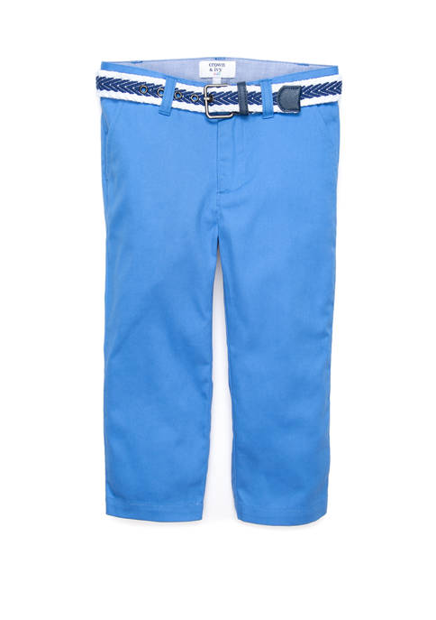 Crown & Ivy™ Toddler Boys Belted Flat Front