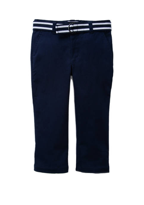 Crown & Ivy™ Toddler Boys Belted Twill Pants