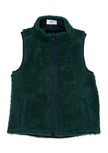 Crown & Ivy™ Toddler Boys Sherpa Vest