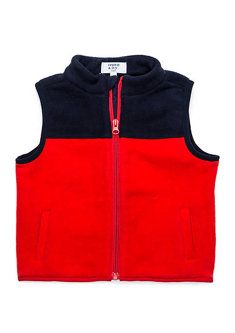 Crown & Ivy™ Toddler Boys Yoke Vest