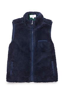 Toddler Boys Lined Sherpa Vest