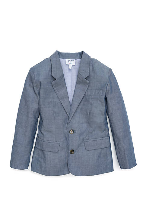 Crown & Ivy™ Toddler Boys Chambray Blazer