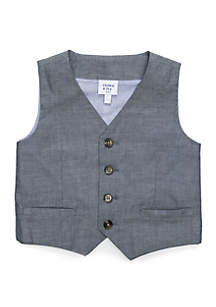 Crown & Ivy™ Toddler Boys Chambray Vest