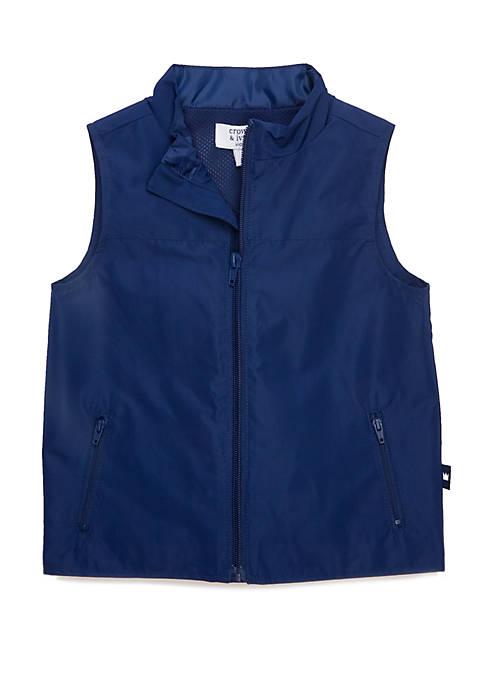 Crown & Ivy™ Toddler Boys Polyester Vest