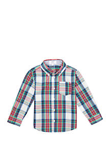 Crown & Ivy™ Toddler Boys Long Sleeve Woven Shirt
