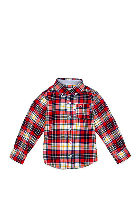 Crown & Ivy™ Toddler Boys Long Sleeve Flannel