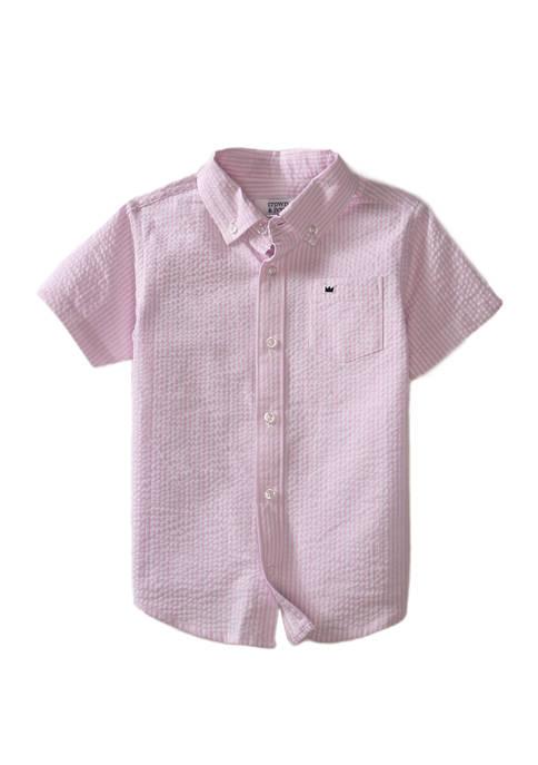 Crown & Ivy™ Toddler Boys Short Sleeve Seersucker
