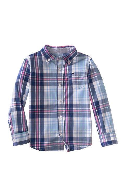Crown & Ivy™ Toddler Boys Long Sleeve Button