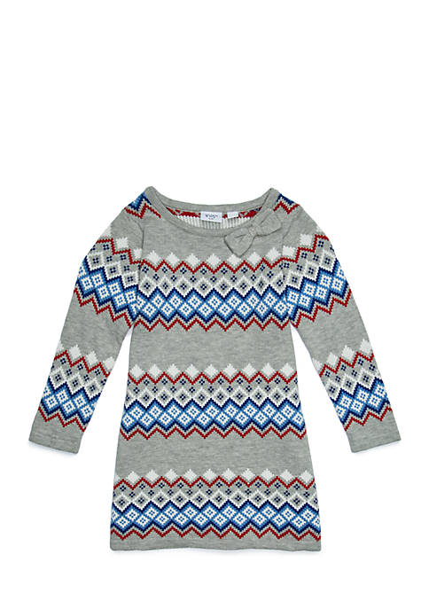 Crown & Ivy™ Toddler Girls Sweater Dress with