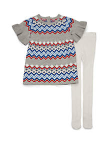 Baby Girls Sweater Dress Set