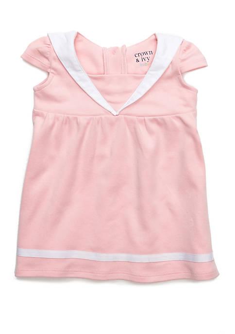Crown & Ivy™ Baby Girls Shoulder Overlay Dress