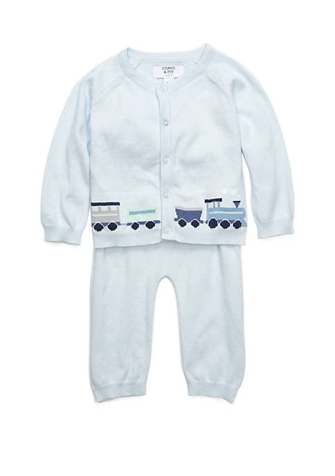 Crown & Ivy™ Baby Boys 2 Piece Sweater