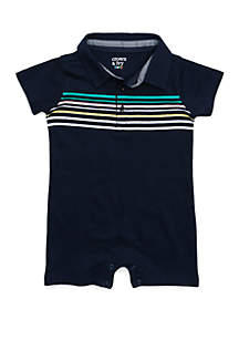 Crown & Ivy™ Baby Boys Polo Romper