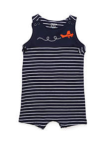 5c5a965362447 ... Crown & Ivy™ Baby Boys Knit Shoulder Button Shortalls
