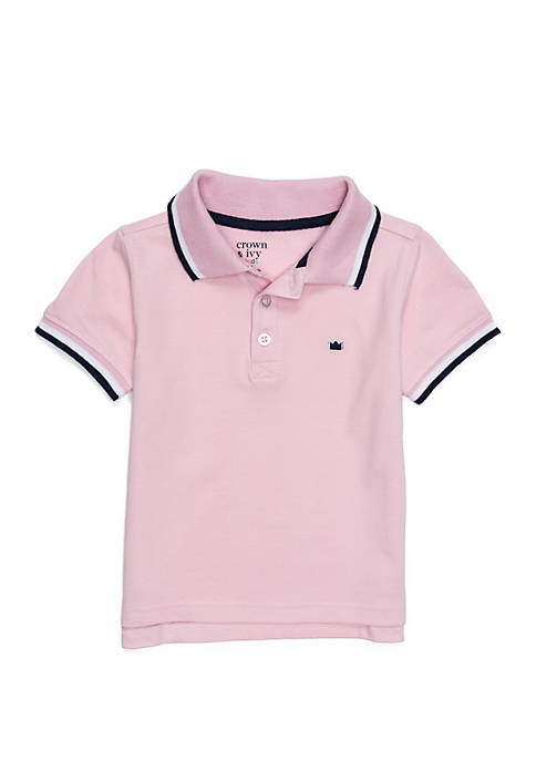 Crown & Ivy™ Toddler Boys Polo with Flat