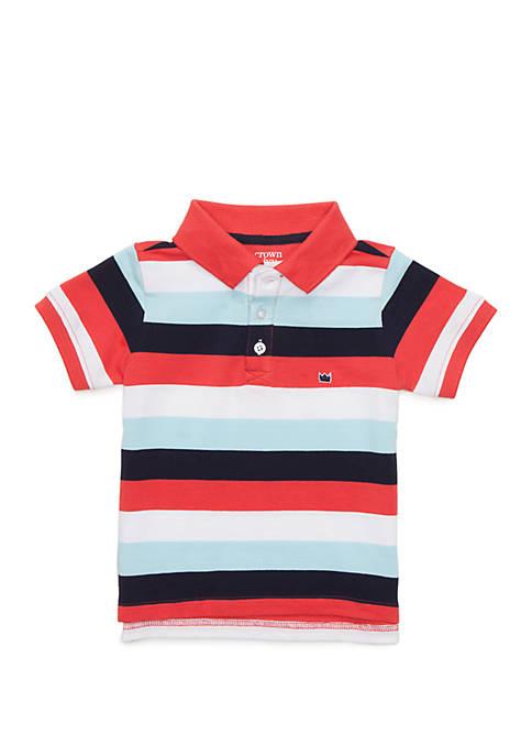 Crown & Ivy™ Toddler Boys Flat Knit Collar