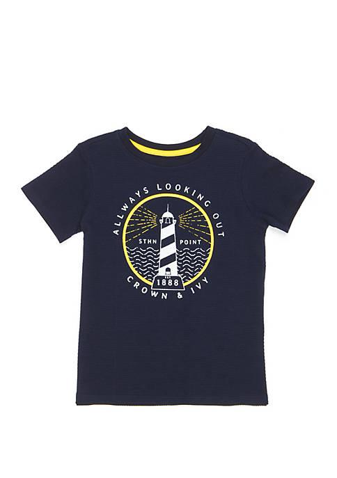 Crown & Ivy™ Toddler Boys Short Sleeve Fashion