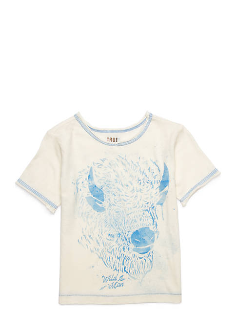 Toddler Boys Raw Edge Ivory T-Shirt