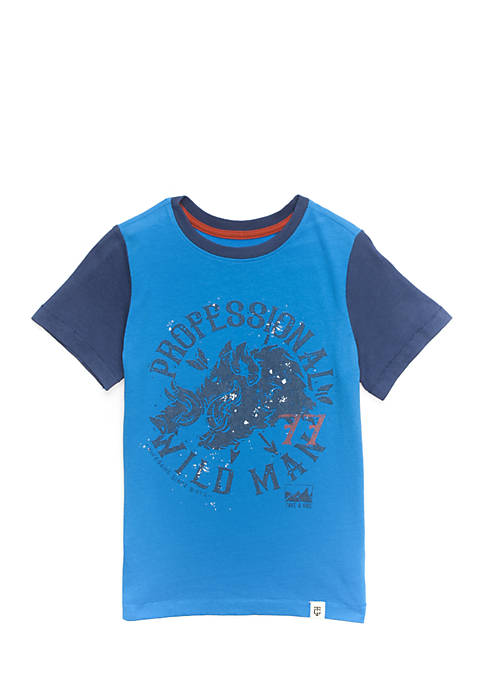 TRUE CRAFT Toddler Boys Short Sleeve Graphic Tee