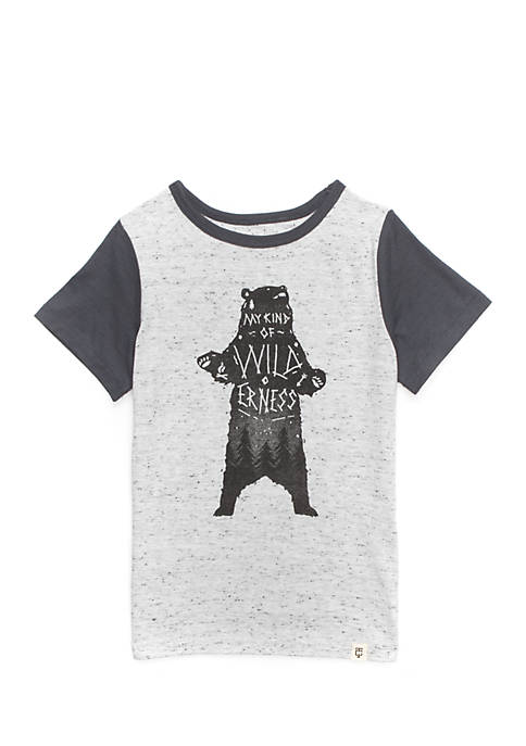 TRUE CRAFT Toddler Boys Short Sleeve Knit Tee