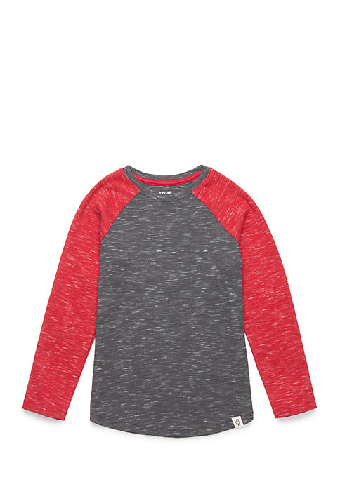 Toddler Boys Long Raglan Sleeve Curve Tee