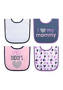 Baby Girls Melt Daddy's Heart Bib Set