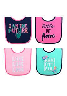 Baby Girls I Am The Future Bib Set