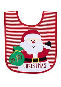 Baby's First Christmas Santa Bib