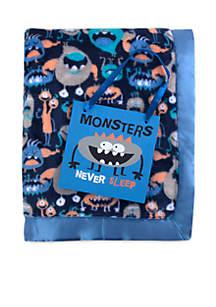 Baby Boys Monsters Blanket