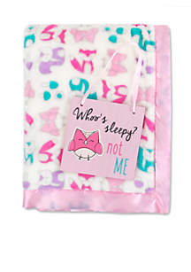 Baby Girls Pink Owl Blanket