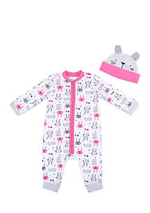 Baby Girls Coverall Set