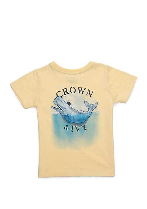 Crown & Ivy™ Toddler Boys Short Sleeve Pocket